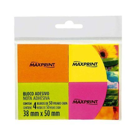 Bloco Adesivo Maxprint Neon